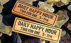 wooden bar signs